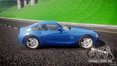 BMW Z4 Coupe v1.0 para GTA 4 traseira esquerda vista