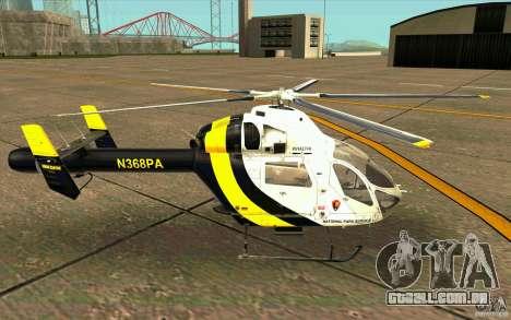 MD 902 Explorer para GTA San Andreas esquerda vista