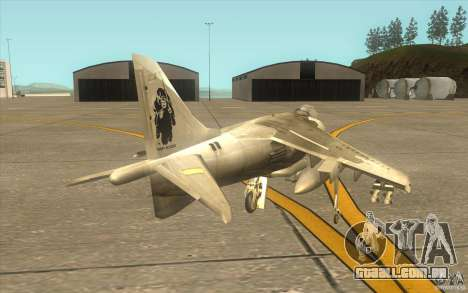 Harrier GR7 para GTA San Andreas vista direita