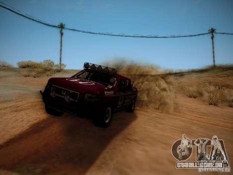 Honda Ridgeline Baja para GTA San Andreas traseira esquerda vista