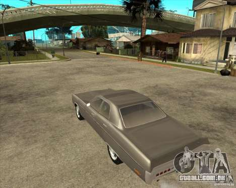 1972 Plymouth Fury III Stock para GTA San Andreas esquerda vista
