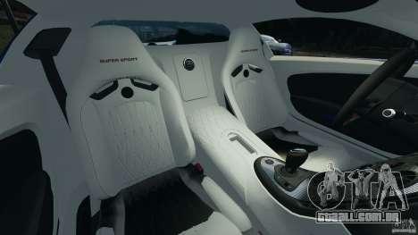 Bugatti Veyron 16.4 Super Sport 2011 v1.0 [EPM] para GTA 4 vista interior