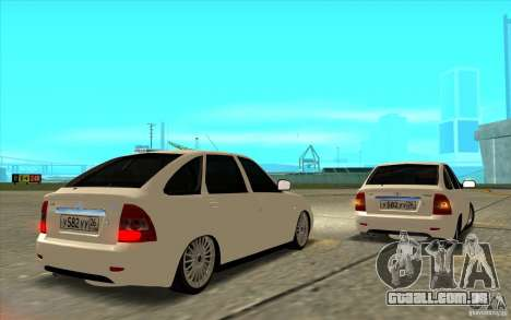 Lada Priora 2172 Hatchback para GTA San Andreas vista inferior