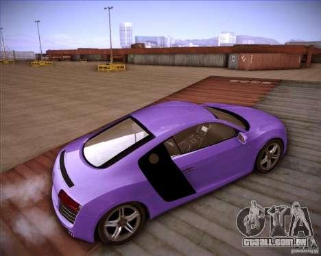 Audi R8 Shift para GTA San Andreas traseira esquerda vista
