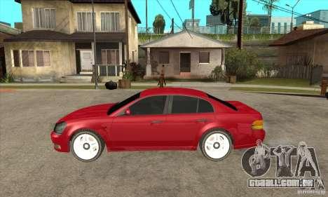 GTA IV Intruder para GTA San Andreas esquerda vista