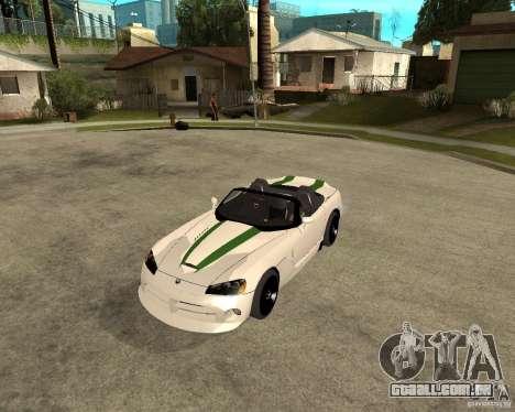Dodge Viper SRT-10 para GTA San Andreas esquerda vista