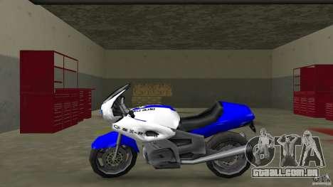 Suzuki GSX-R 600 beta 0.1 para GTA Vice City deixou vista
