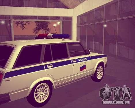 VAZ 21047 polícia para GTA San Andreas traseira esquerda vista