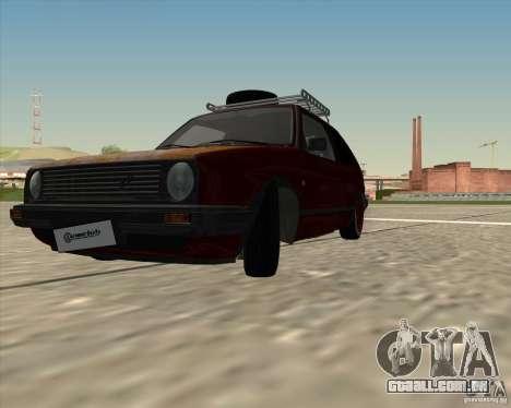 VW Golf II Shadow Crew para GTA San Andreas traseira esquerda vista