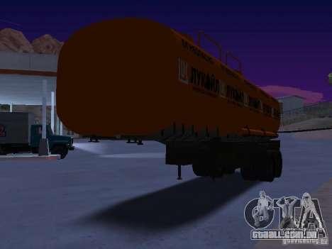 Tanque Lukoil para GTA San Andreas vista direita