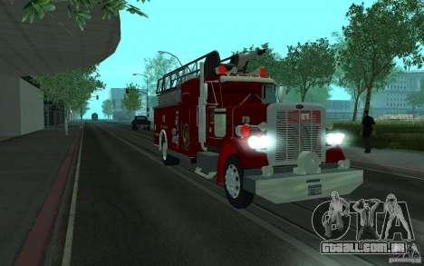Peterbilt 379 Fire Truck ver.1.0 para GTA San Andreas traseira esquerda vista