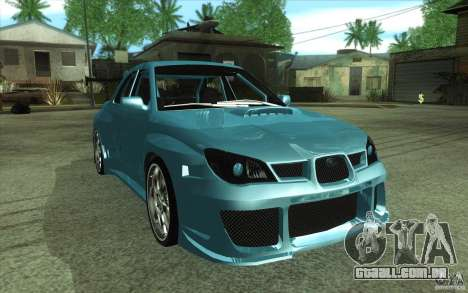 Subaru Impreza STI para GTA San Andreas vista direita