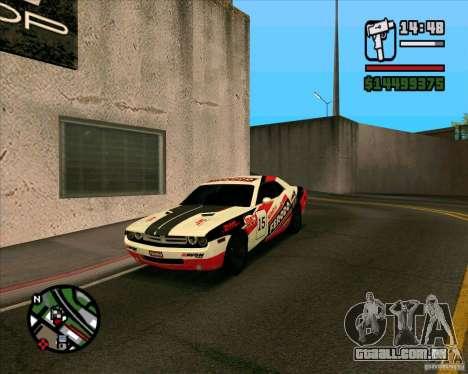 Dodge Challenger para GTA San Andreas vista direita