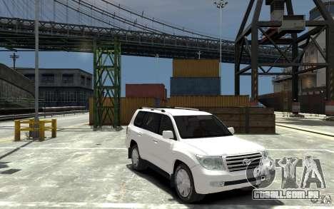 Toyota Land Cruiser 200 para GTA 4 vista de volta