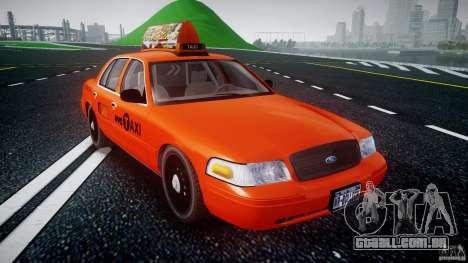 Ford Crown Victoria 2003 v.2 Taxi para GTA 4 vista de volta