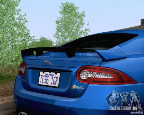 Jaguar XKR-S 2012 para GTA San Andreas vista traseira