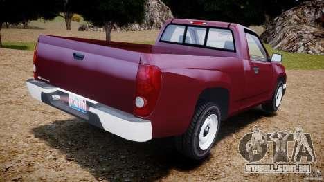 Chevrolet Colorado 2005 para GTA 4 traseira esquerda vista