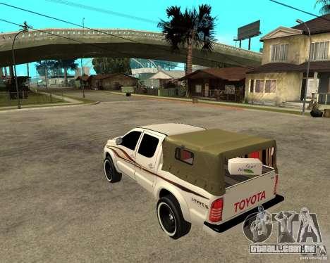 Toyota Hilux 2010 para GTA San Andreas esquerda vista