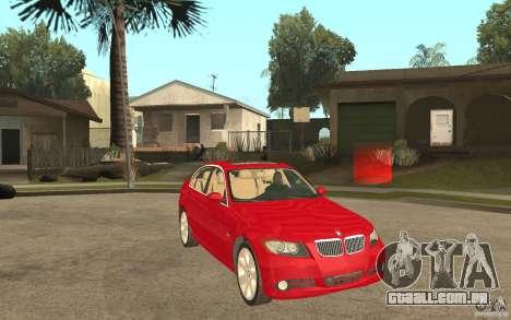 BMW 330i E90 v.2.0 para GTA San Andreas vista traseira