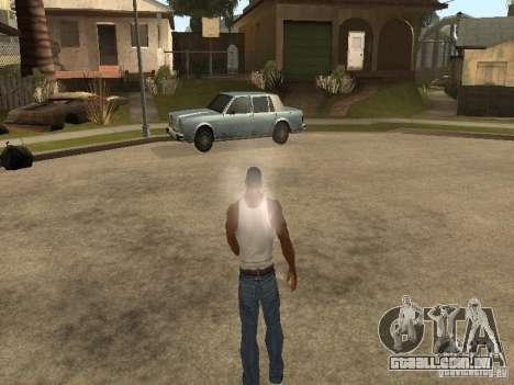 Você pode sentar, fumar, beber uísque, vômitos,  para GTA San Andreas sexta tela