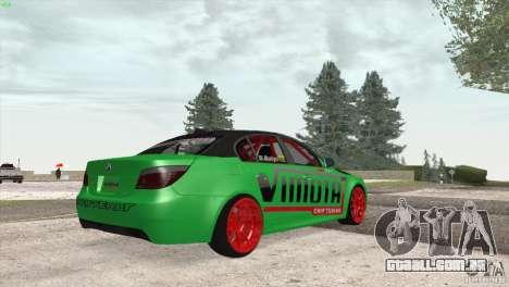 BMW M5 E60 Darius Balys para GTA San Andreas vista traseira