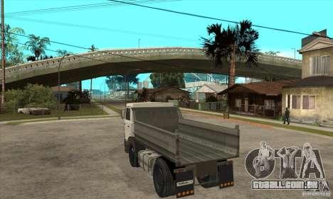 5551 MAZ caminhão para GTA San Andreas traseira esquerda vista