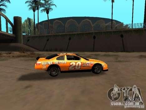 Toyota Camry Nascar Edition para GTA San Andreas vista traseira