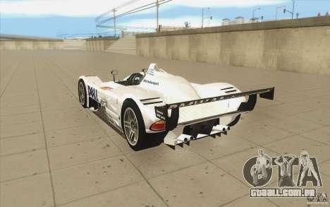 BMW V12 LeMans - Stock para GTA San Andreas traseira esquerda vista