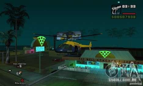 Helitour Maverick de GTA 4 para GTA San Andreas esquerda vista