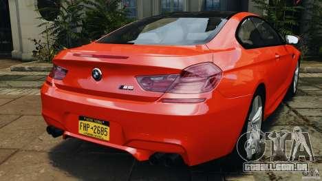 BMW M6 F13 2013 v1.0 para GTA 4 traseira esquerda vista