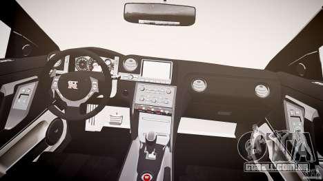 Nissan GT-R R35 2010 para GTA 4 vista superior