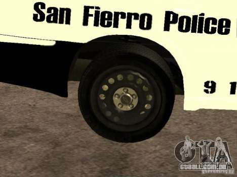 Chevrolet Impala Police 2003 para vista lateral GTA San Andreas