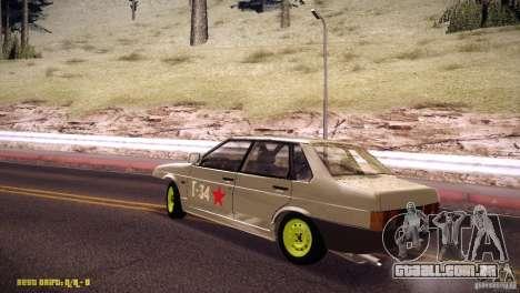 Hobo Vaz 21099 para GTA San Andreas esquerda vista