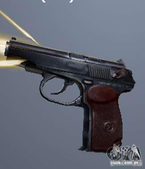 Um conjunto de armas de um stalker para GTA San Andreas oitavo tela