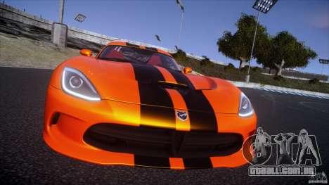 Dodge Viper GTS 2013 v1.0 para GTA 4 vista de volta