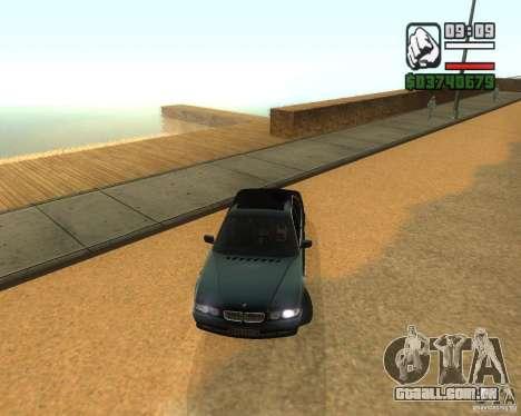BMW 740i para GTA San Andreas esquerda vista