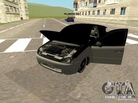 Lada Kalina para GTA San Andreas traseira esquerda vista