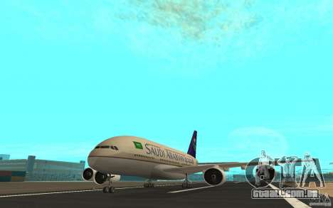 Airbus A380 - 800 para GTA San Andreas esquerda vista