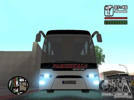 Neoplan Tourliner para GTA San Andreas vista traseira