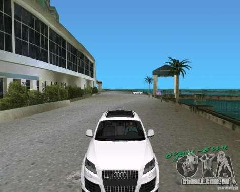Audi Q7 v12 para GTA Vice City vista traseira esquerda