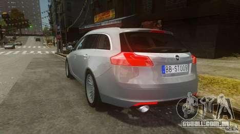 Opel Insignia Sports Tourer 2009 para GTA 4 traseira esquerda vista