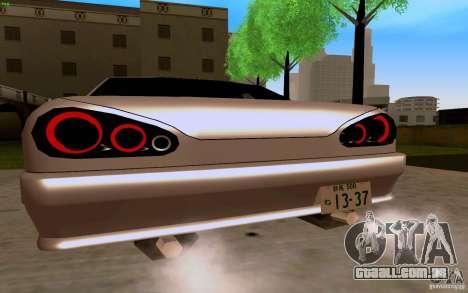 Novo Elegy para GTA San Andreas vista direita