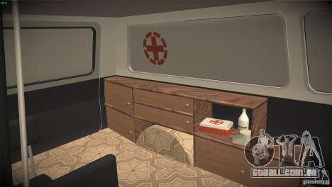 RAF 22031 ambulância para vista lateral GTA San Andreas
