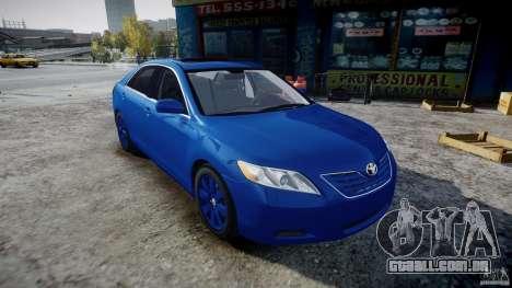 Toyota Camry 2007 (XV40) v1.0 para GTA 4 vista de volta