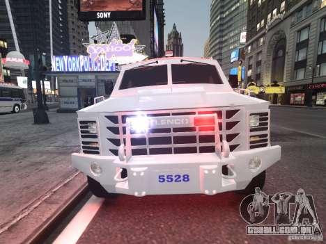 Lenco Bearcat NYPD ESU V.2 para GTA 4 esquerda vista