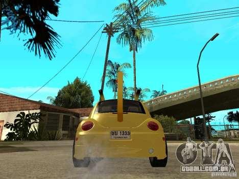Volkswagen Beetle Pokemon para GTA San Andreas traseira esquerda vista