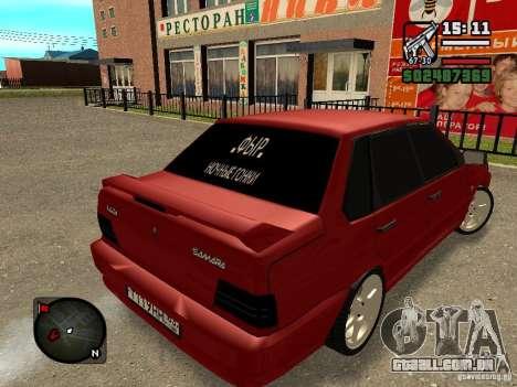 VAZ 2115 FYR Beta para GTA San Andreas esquerda vista