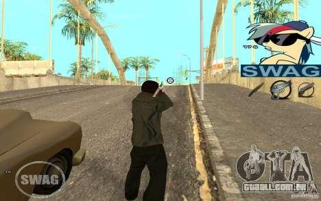 C-HUD Pony SWAG para GTA San Andreas segunda tela