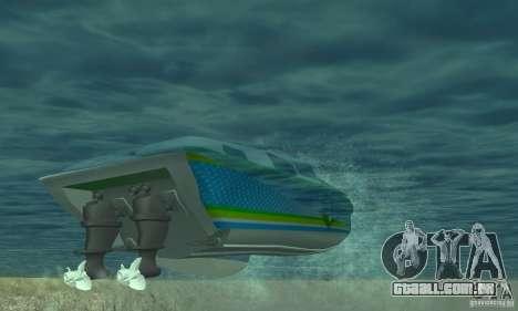 Speed Motorboat para GTA San Andreas vista interior
