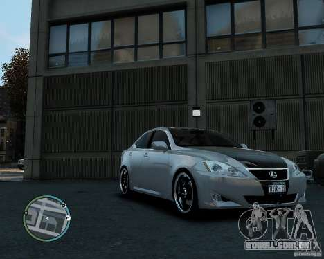 Lexus IS350 2006 v.1.0 para GTA 4 traseira esquerda vista
